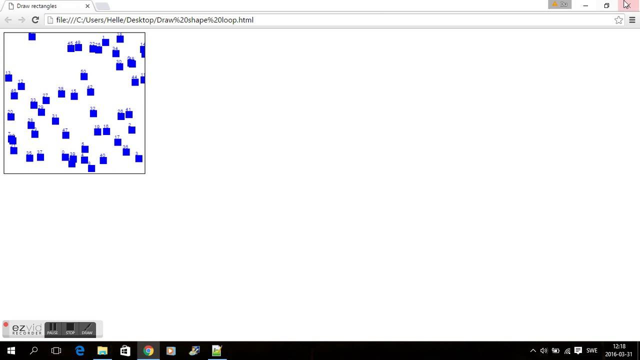 HTML5 CANVAS - DRAW SHAPES IN A RANDOM WAY