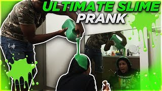 SLIME PRANK ON EX GIRLFRIEND WHILE SHE'S DOING HER MAKEUP!!