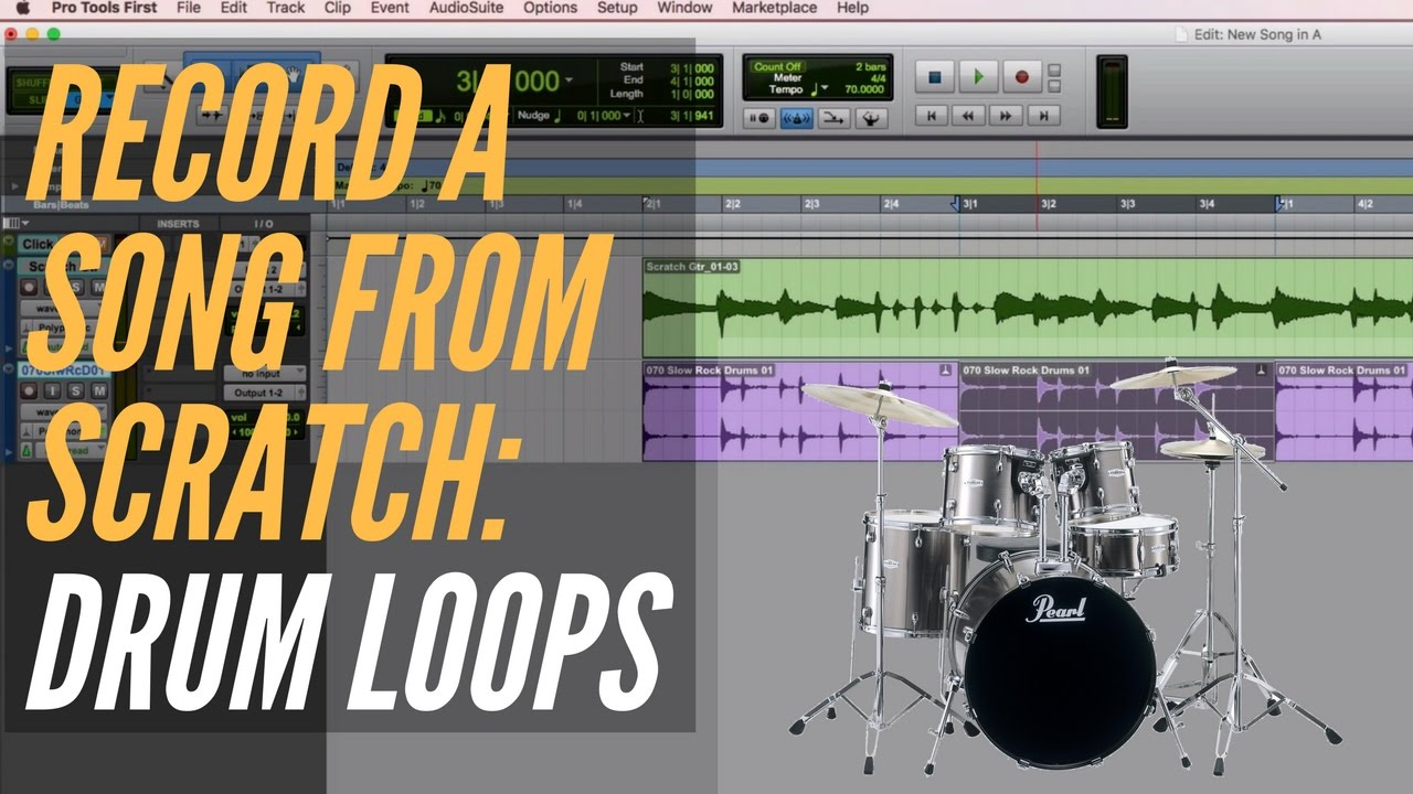 How To Record A Song From Scratch - Drum Loops - RecordingRevolution com