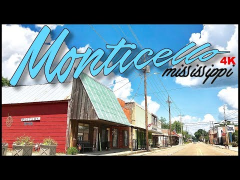 MONTICELLO MISSISSIPPI DOWNTOWN IN 4K
