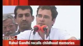 Rahul Gandhi recalls childhood memories