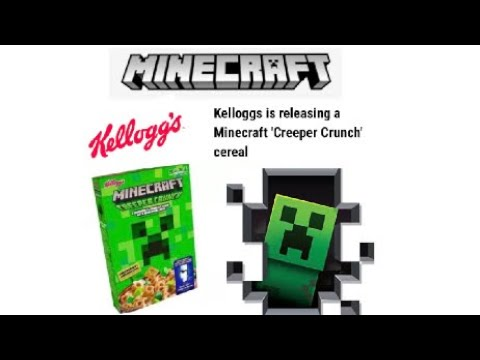 Kelloggs Is Releasing A Minecraft Creeper Crunch Cereal Youtube