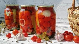 Помидоры черри на зиму. Маринованные помидоры без стерилизации.