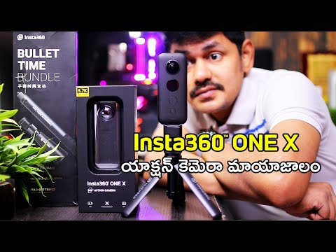 Insta360 One X 360 Degree Action Camera Unboxing And Review In Telugu