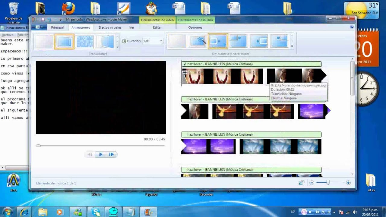 Como hacer un video en Movie Maker - YouTube