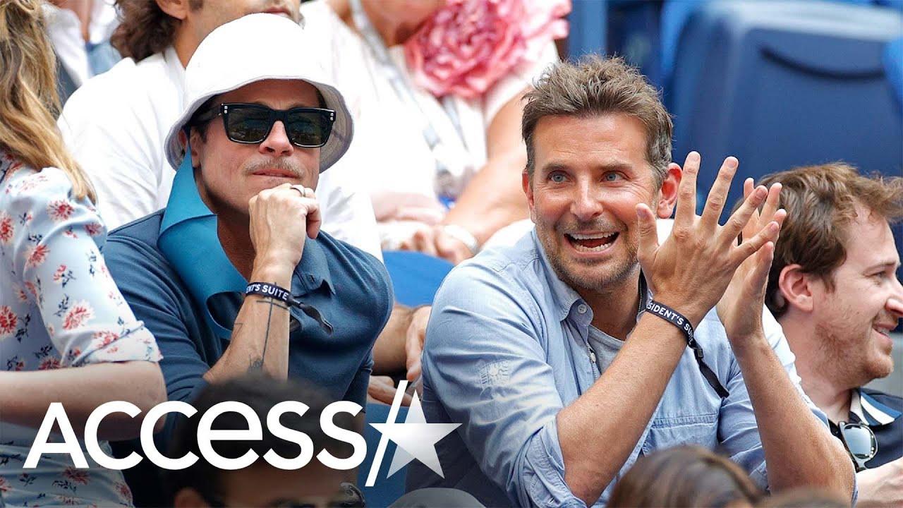 Brad Pitt & Bradley Cooper At US Open Together