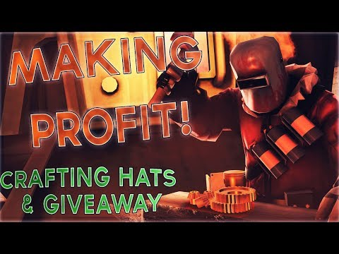 PROFIT STREAK?! - Huge TF2 Hat Crafting + GIVEAWAY!