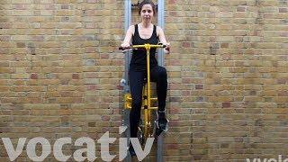 階段やエレベーターの代わりとなるクールな異動手段!?ペダル駆動の垂直輸送システム「vycle」