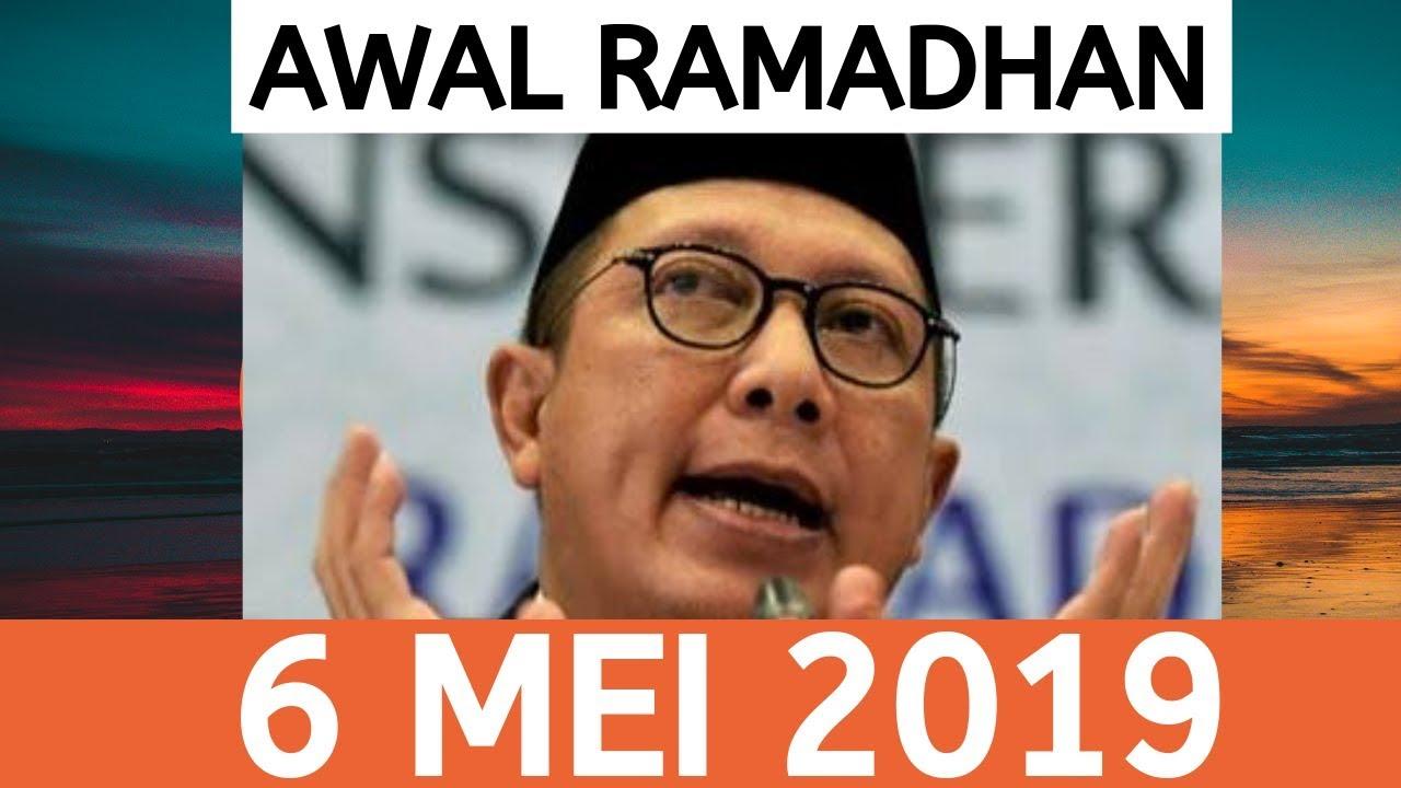 Awal ramadhan 2019 bertepatan 6 mei menunggu sidang isbat