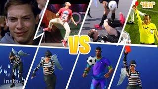 *NEW* Fortnite Season 4 EMOTES/DANCES LEAKED IN REAL LIFE (POP LOCK, KICK UPS,WATERWORKS & RED CARD)