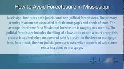 How to stop foreclosure in Mississippi