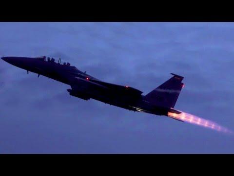 F-15E Takeoffs in Slo-Mo