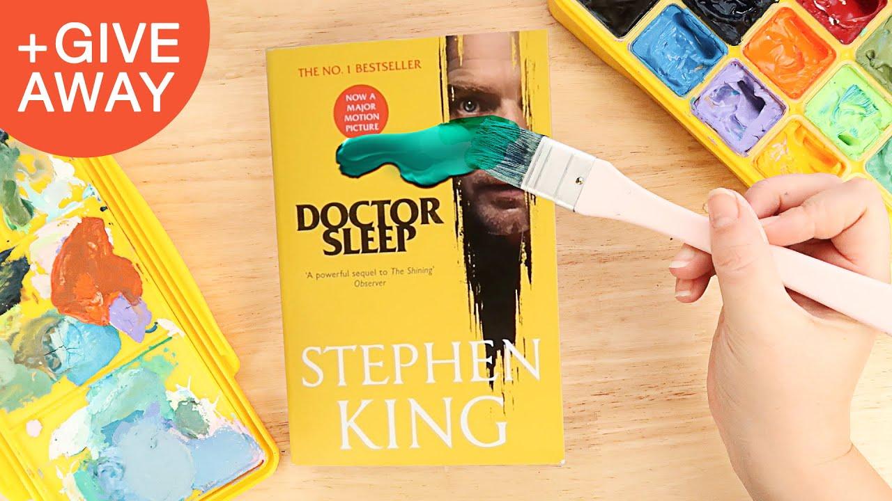 Painting on Books 'Doctor Sleep', Erasing Movie Covers.