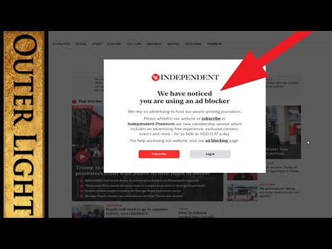 """How to remove """"We have noticed you are using an ad blocker"""" popup"""
