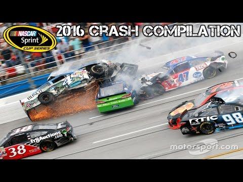 Nascar Cup Series - 2016 - Crash Compilation (Original Sound - No Music)