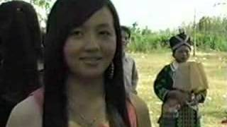 hmong girls in laos
