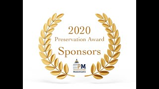 2020 Preservation Awards:  What Sponsorships Do for Preservation Massachusetts
