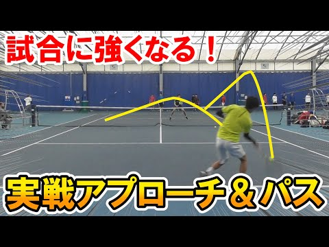 【テニス】試合に強くなる!実戦アプローチ&パス