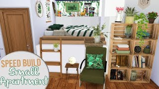 The Sims 4 Speed Build   SMALL COZY APARTMENT + CC Links