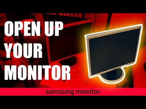 How to Disassemble and Clean Inside Samsung Monitor