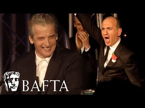 Peter Capaldi presents Armando Iannucci with Outstanding Contribution to Film and Television
