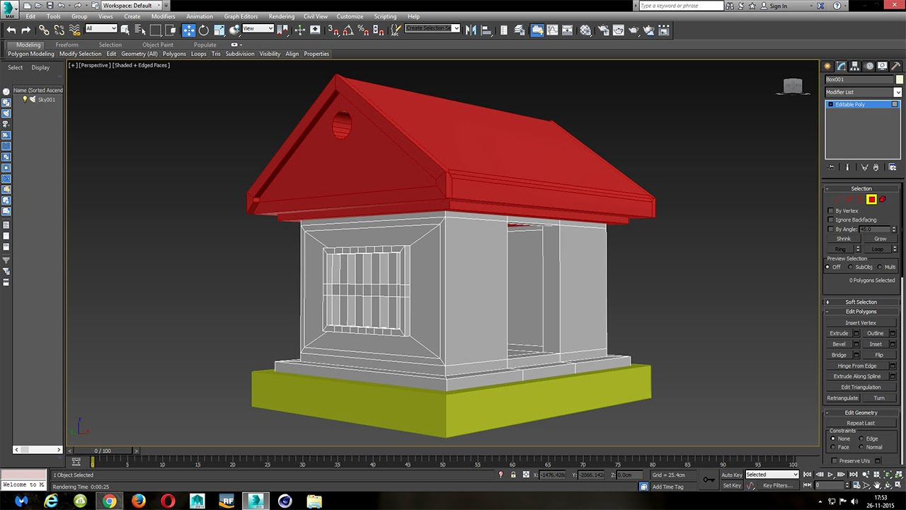 3ds max beginner simple house modeling tutorial youtube