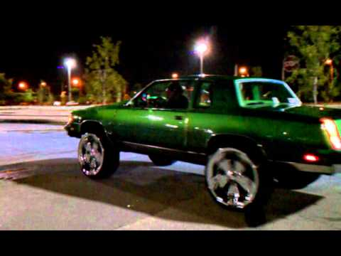 Candy Green Cutlass And 2 Door Box Chevy On 26 S Carol