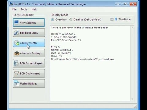 how to make recovery partition active windows 7
