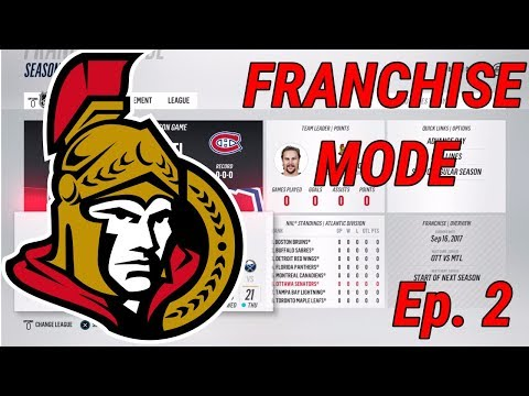 PRESIDENTS TROPHY? - NHL 18 - Franchise Mode - Ep. 2 - Ottawa
