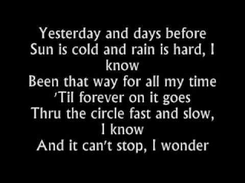 The Fray - Have You Ever Seen The Rain - Lyrics