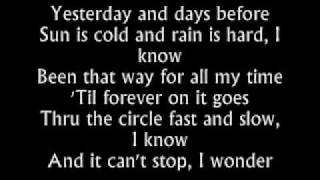 The Fray - Have You Ever Seen The Rain - Lyrics