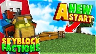 A NEW START! - Minecraft PE SkyBlock/Factions EP.1 - Minecraft PE (Pocket Edition)