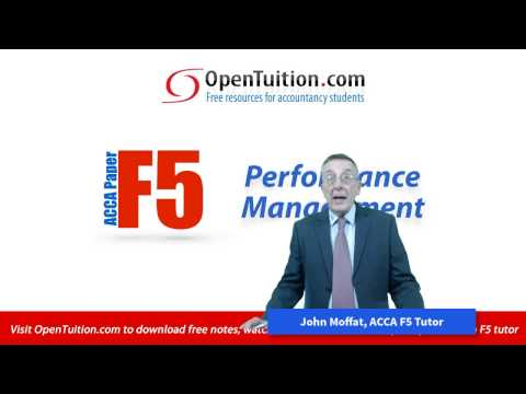 Introduction to the ACCA F5 Performance Management Exam