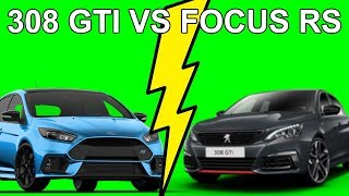 Comparatif 308 GTI VS Focus RS on vous dit tout - Les tutos de Berbiguier