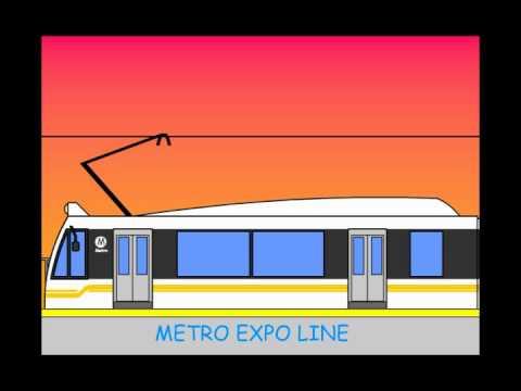 Metro Expo Line animation