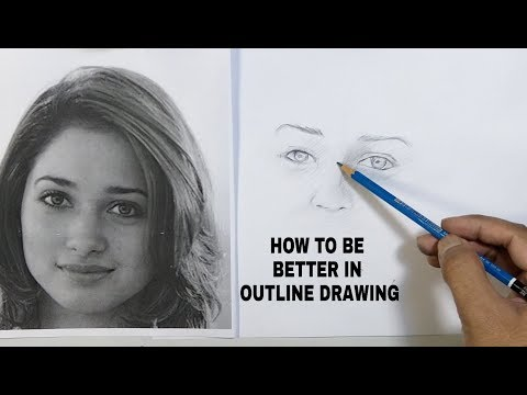 Practice for outline drawing- homework for beginners