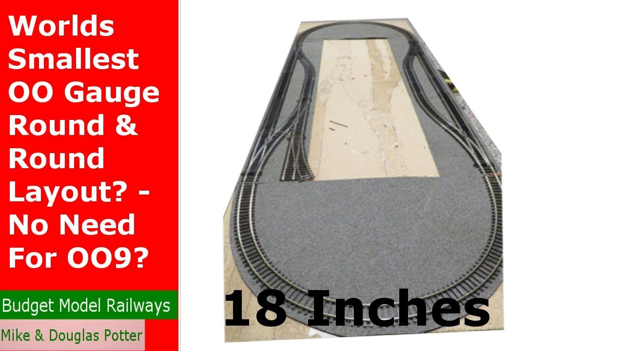 Worlds Smallest OO Gauge Round & Round Layout? - No Need For OO9?