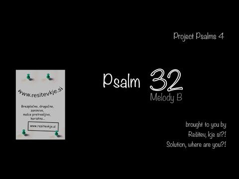 Psalm 32 sung, melody B (KJV)