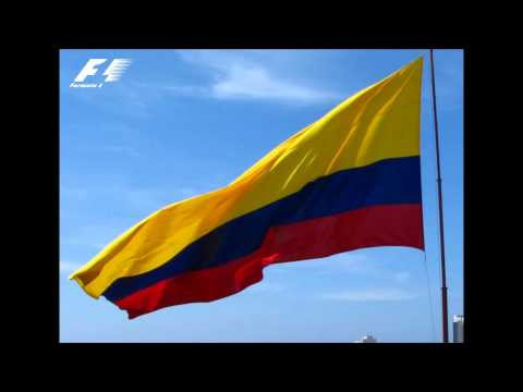 Colombian National Anthem in F1 - Himno Nacional de Colombia F1