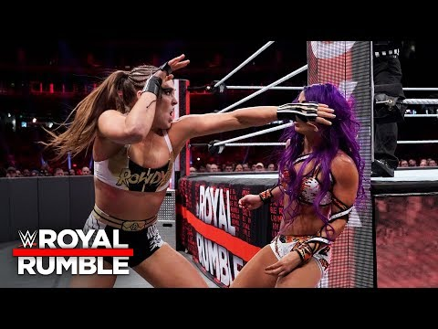 Ronda Rousey and Sasha Banks brawl on the outside in Raw Women's Title thriller: Royal Rumble 2019