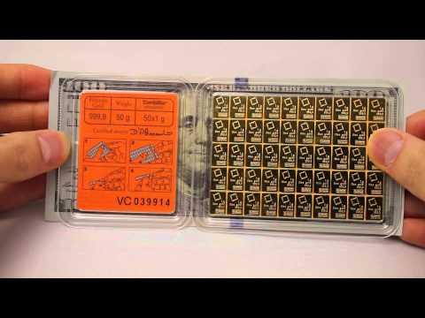 Valcambi 50x 1 Gram Gold CombiBar