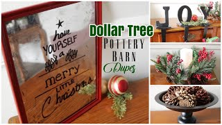 Dollar Tree Pottery Barn Dupes |DIY Christmas Decor