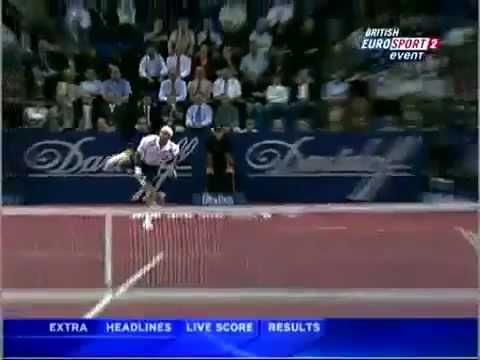 Roger Federer Best Kick Serve Ever!