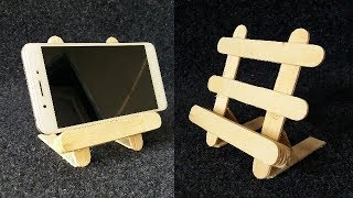 How to make mobile holder with popsicle sticks