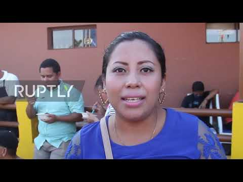 Nicaragua: Thousands defy social distancing to receive portion of traditional syrup
