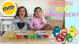 RAINBOW M&M'S CANDY EXPERIMENT! - COOL FOR KIDS