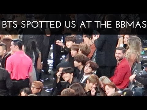 [FANCAMS + VLOG] BTS SPOTTED US AT THE BBMAS (THEY SLAYED)