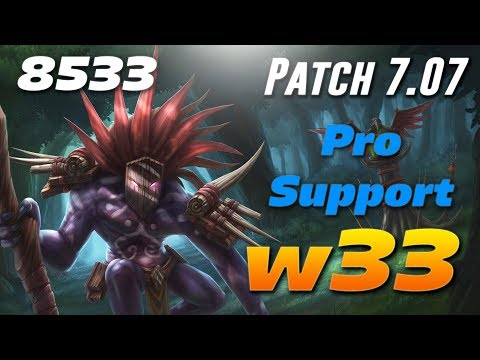 w33 Witch Doctor [Pro Support] - 8533 MMR - Dota 2 Patch 7.07