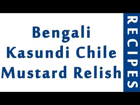 Bengali Kasundi Chile Mustard Relish | INDIAN RECIPES | WORLD'S FAVORITE RECIPES | HOW TO MAKE