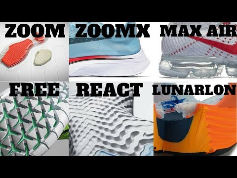 Nike Cushion Technologies Compared! AIR VS ZOOM VS LUNARLON VS FREE VS REACT VS ZOOMX